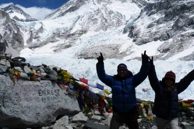 A Couple made it to Everest Base Camp