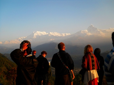 In the morning at Ghorepani-Poon Hill, Annapurna