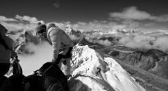 At the summit of Island Peak