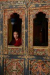 Buddhist Monk Window Bhutan