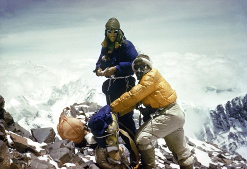 Hillary Tenzing on Everest 1953