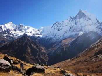 Machhapuchhre seen from Annapurna base camp