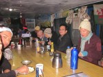 trekkers enjoying meal annapurna base camp
