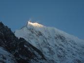 Yala peak seen during sunset