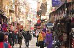Thamel bazaar during day