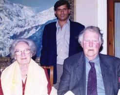 Devendra Wagle with Edmund Hillary