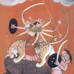 Imagery of Goddess Durga