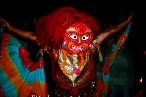 Masked dance during Indra jatra