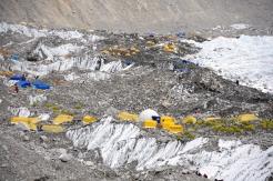 Everest Base Camp during winter