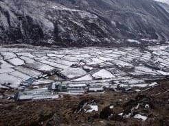 Khubu region receiving Snowfall during winter