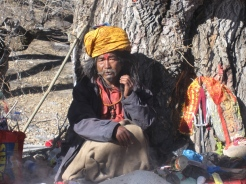 A local saint at Muktinath