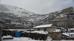 Namche Bazaar as seen during Winter