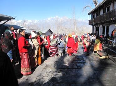 Pilgrims at Muktinath Temple