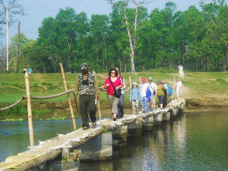 Safari on foot at chitwan