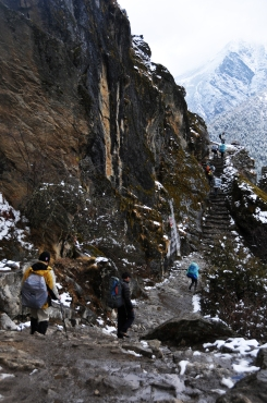 Steep climb everest