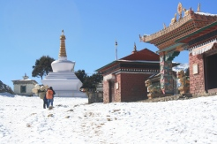 Tengboche Monastery during winter