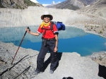 A trekker enjoying her time during annapurna circuit trek