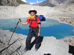 A trekker enjoying her time during annapurna circuit trek