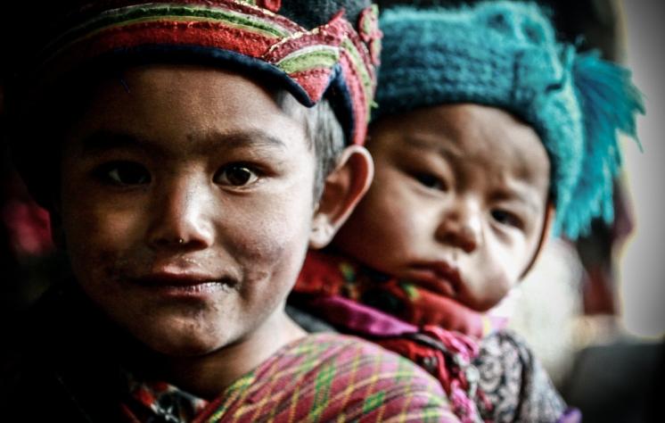 Tamang chilren in Gatlang village