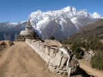 Buddhist stupa khumbu valley