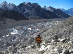 Crossing Ngozumpa Glacier