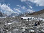 Trekkers at Everest base camp