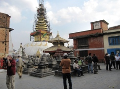 Swoyambhunath under construction