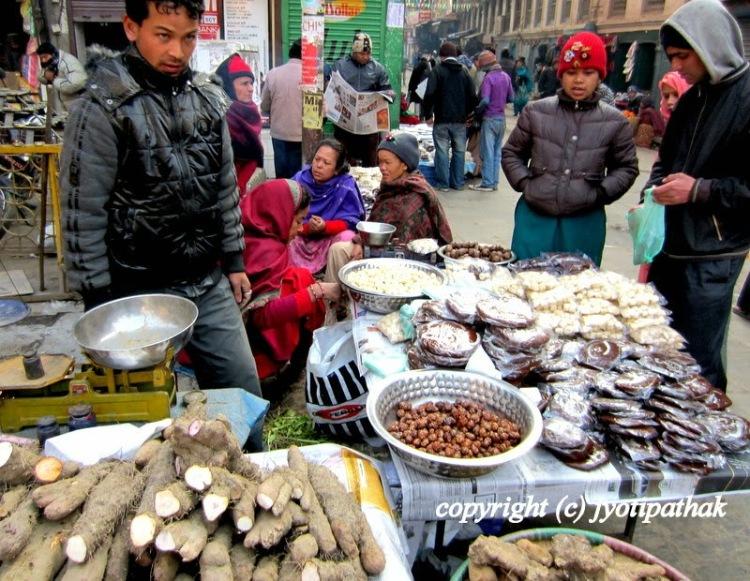 Kathmandu market during Maghe Sankranti
