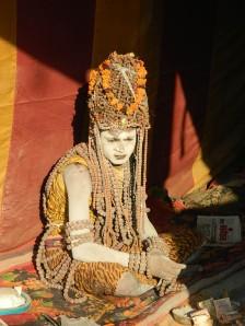 Naga Sadhu resembling Lord Shiva