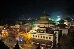 Pashupati temple as seen during the night
