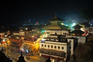 Pashupati temple as seen during the night