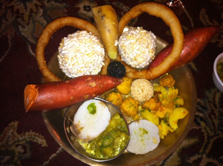 Set of delicacies eaten during Maghe Sankranti