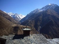 A view from Mu Gompa