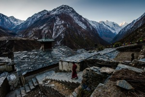 A view of Mu Gompa