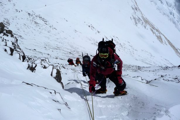 Climbers during their Everest climb