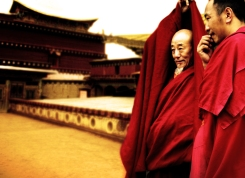 Buddhist Monks in Lhasa