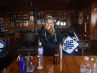 A Trekker dining in a Tea House diner in Everest region