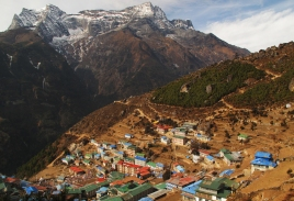 Namche Bazaar is the largest village of Khumbu valley