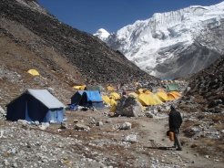 Tents set up at Everest region
