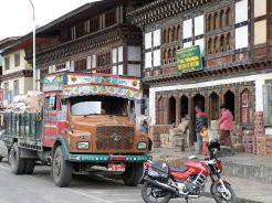 A typical street of Paro, Bhutan