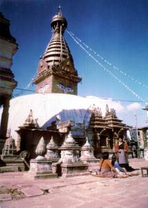 Swayambhunath is a major Buddhist pilgrimage site located in Kathmandu