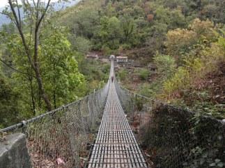 A wired-bridge seen in Jiri