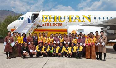 Crews of Bhutan Air
