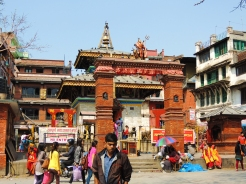 Hanumandhoka Temple was built by Pratap Malla