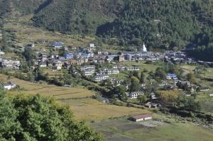 A town of Jiri, Dolakha district