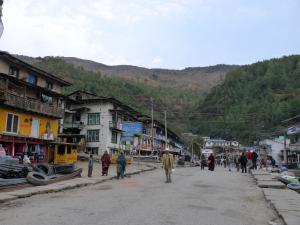 A local market at Jiri
