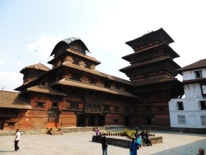 Royal courtyard at Basantapur