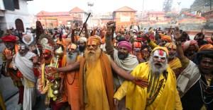 Sadhus seen at Kathmandu