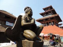 Statue of Narsimha at Basantapur