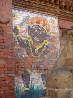 Imagery of Bhairava (Demon God) at Mangal Bazaar